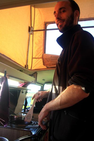 La popote dans le van