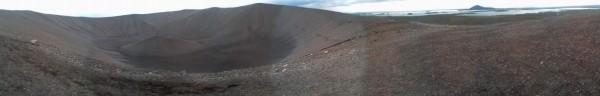 Au sommet du cratère