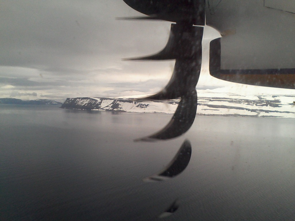 Arrivée dans les fjords de l'ouest.