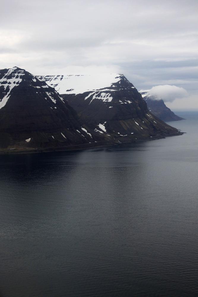 Les fjords vus du ciel.