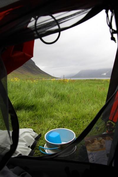 La vue de la tente